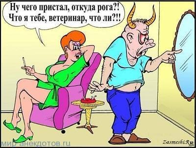 анекдот про рога