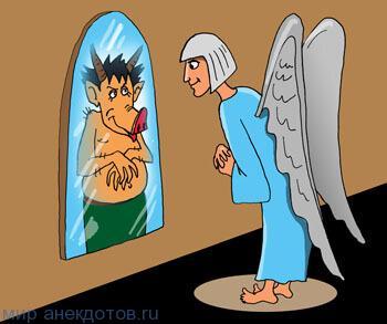 анекдот про зеркало