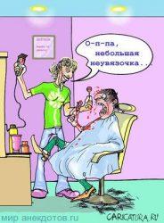 Анекдоты про парикмахера