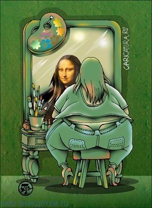 смешной анекдот про зеркало