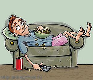 прикольный анекдот про диван