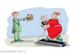 Веселые анекдоты про похудение