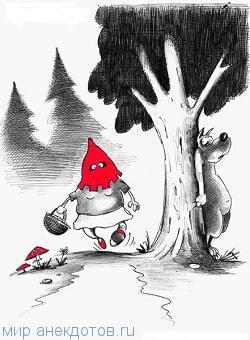"""Сказка """"Красная шапочка"""" на новый лад"""