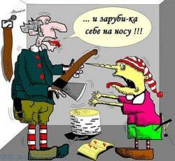 Веселые анекдоты про Буратино