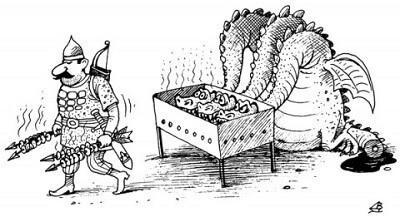 Веселые анекдоты про Змея Горыныча