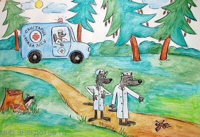 Смешные анекдоты про санитаров