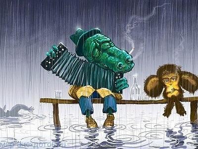 Веселые анекдоты про Чебурашку и крокодила Гену