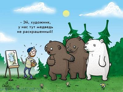 Веселые анекдоты про медведя