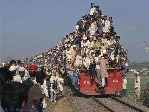 Индийские поезда (фото)