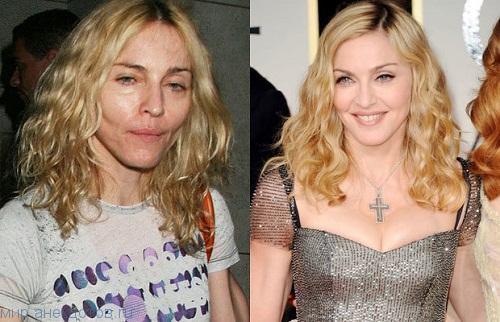 Звезды до и после макияжа