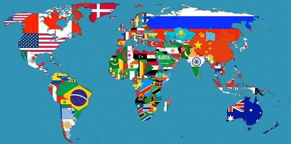 Прикольные географические карты