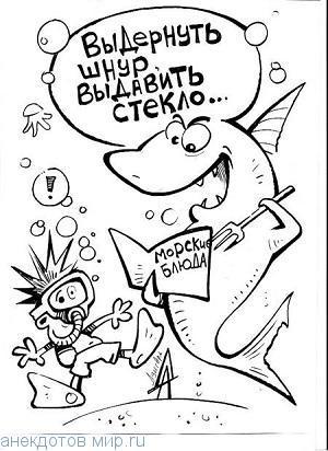 Веселые анекдоты про акул