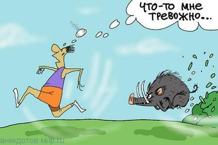 прикольный анекдот про бег