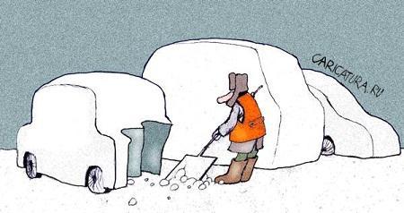 свежий анекдот про снег