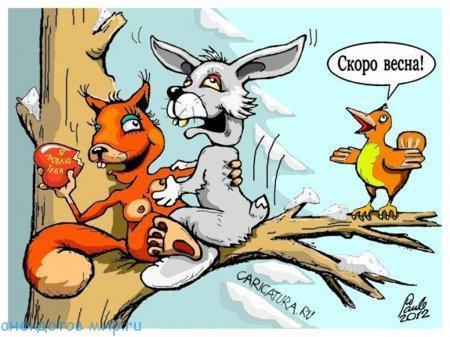 Свежие анекдоты про весну