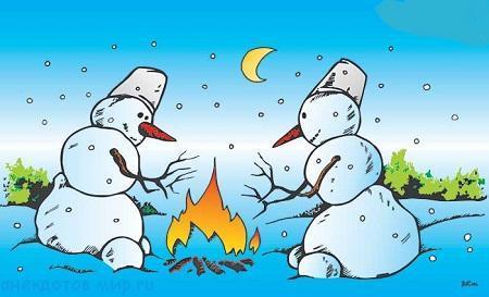 Самые смешные анекдоты про зиму