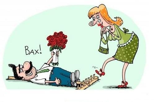 карикатура на женщину