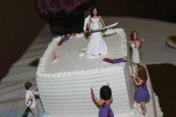 Прикольные свадебные торты на фото