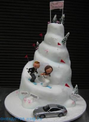 смешной свадебный торт