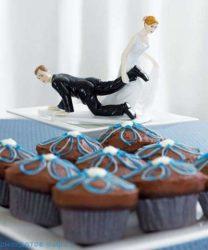 Смешные свадебные торты (фото)