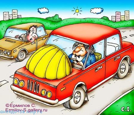 Смешные анекдоты про багажник