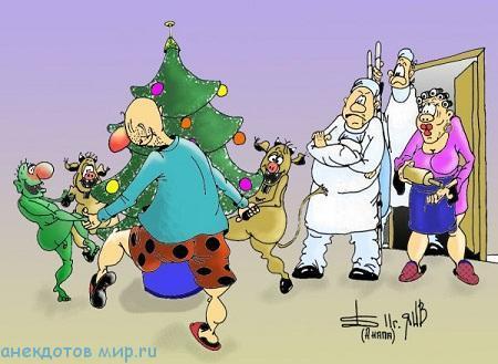Смешные анекдоты про декабрь