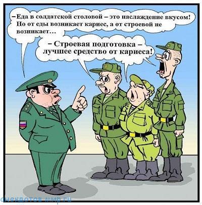 Свежие анекдоты про армию