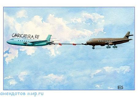 свежий анекдот про самолет