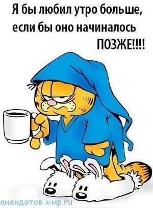 очень смешной анекдот про утро
