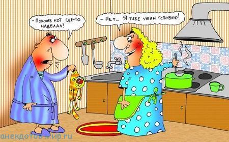 новый анекдот про кухню