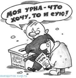 Короткие анекдоты про выборы