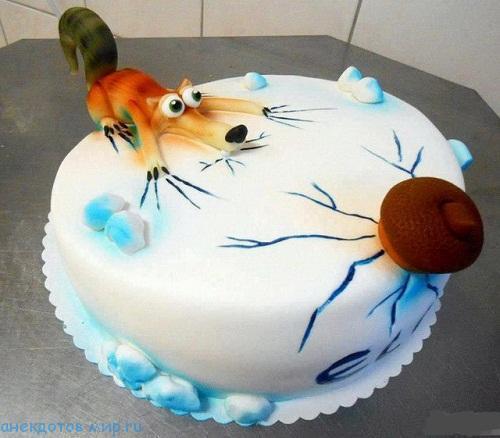 прикольный торт на фото