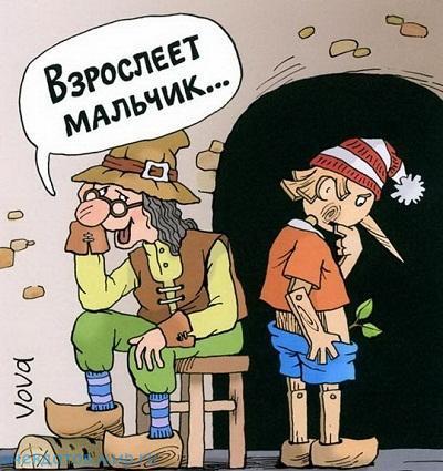 Смешные до слез анекдоты про Буратино