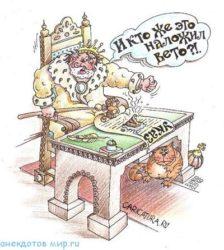 Свежие анекдоты про царя