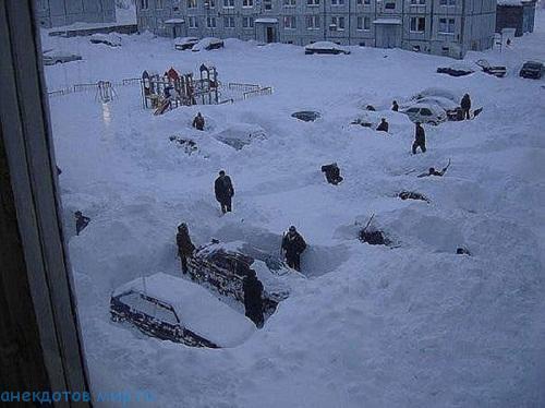 суровая зима на фото