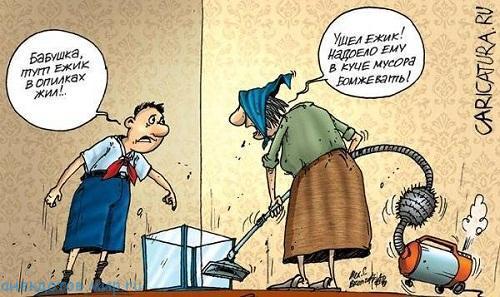 Смешные анекдоты про пылесос