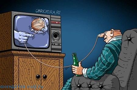 Смешные до слез анекдоты про телевизор