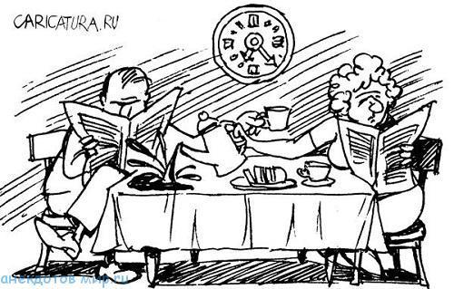 Смешные анекдоты про завтрак