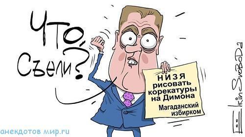 Карикатуры про Медведева