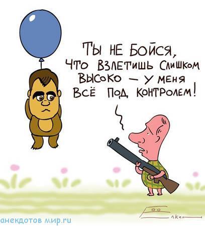 карикатура про медведева