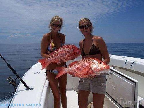 рыбаловный прикол с девушками