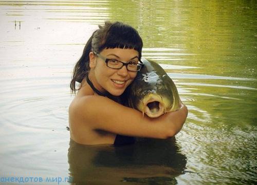 Рыболовные фото приколы с девушками