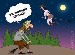 Смешные анекдоты про ведьм