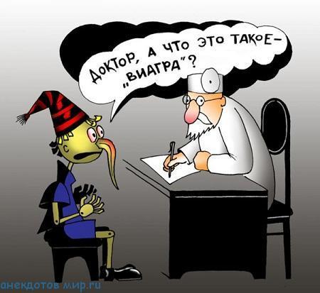 Анекдоты про виагру