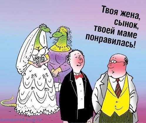 анекдот про выход замуж