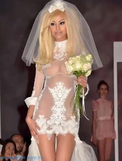 прикольное свадебное платье
