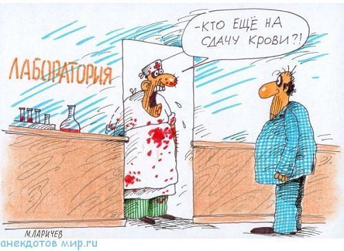 анекдот про кровь