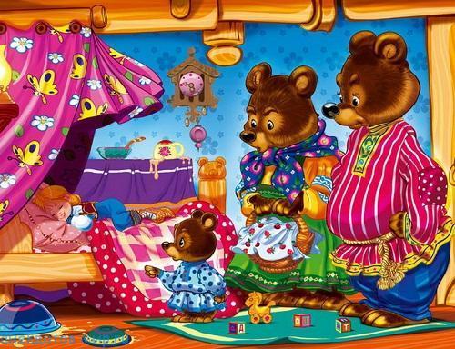 переделанная сказка три медведя