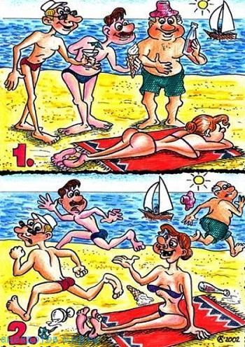 Смешные до слез анекдоты про пляж