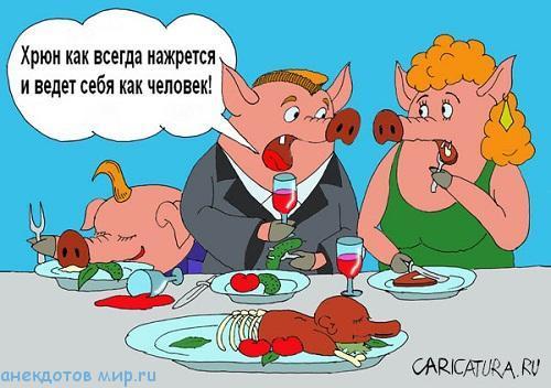 смешной анекдот про свинью